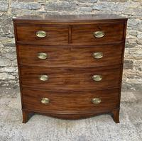 Large Regency Mahogany Bow Front Chest of Drawers (2 of 19)