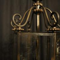 French Hexagonal Triple Light Hall Lantern (7 of 10)
