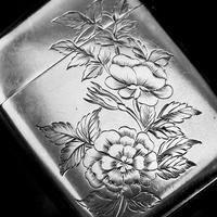 Antique Victorian Solid Silver Vesta Case Aesthetic Style Engravings - Joseph Whitten 1885 (7 of 9)