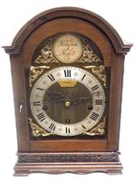Superb Mahogany Arch Top Mantel Clock Westminster Musical Bracket Clock by Dent London (2 of 10)