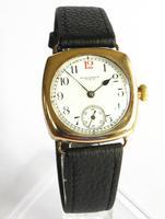 Gents 1920s 9ct Gold Waltham Wrist Watch (2 of 5)