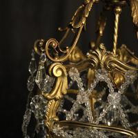 French Gilded Bronze Antique Chandelier (7 of 10)