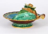 Minton Majolica Pottery Pedestal Chestnut Dish Dated 1867 (8 of 14)
