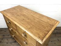 Antique Pine Straight Front Chest of Drawers (7 of 10)