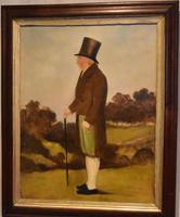 English Naive Oil  Painting of Gentleman (6 of 7)
