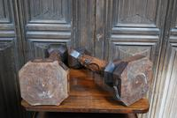 Pair of Oak Gothic Candlesticks / Lamps (6 of 6)
