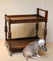 Carved Oak Trolley (10 of 10)