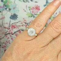 Vintage 18ct Platinum diamond cluster ring c.1960s (10 of 11)