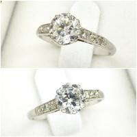 Art Deco Platinum old European cut diamond solitaire engagement ring 0.65ct ~ With appraisal & valuation (9 of 11)