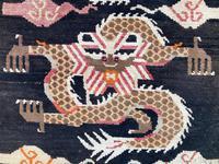Antique Tibetan Dragon Rug (6 of 9)