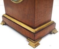 French Lancet Walnut Mantel Clock 8-day Front Wind Mantle (6 of 10)