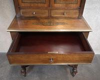 19th Century French Rosewood & Brass Inlaid Bonheur Du Jour (6 of 12)