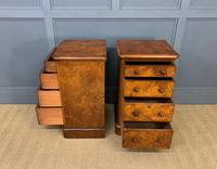Pair of Burr Walnut Bedside Chest by Heal and Son (11 of 16)