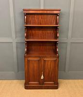 Charming Victorian Mahogany Waterfall Bookcase (2 of 12)