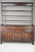 Antique Rustic English Country Kitchen Georgian Oak Dresser (3 of 12)
