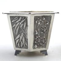 Wang Hing - Pair of Chinese Trade Solid Silver Novelty Salts & Liners c.1900 (6 of 11)