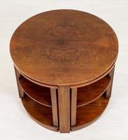 Walnut Art Deco Nest of tables (3 of 7)
