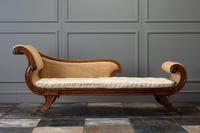 19th Century Regency Mahogany Chaise Longue (2 of 6)