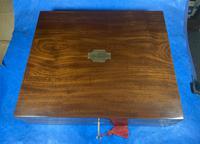 Georgian Mahogany Box With a Working Lock and Key (6 of 13)