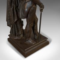Antique Figure, Sir Walter Scott, Bronze, Statue, Poet, Victorian c.1880 (6 of 12)
