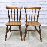 Superb Pair of Windsor Spindleback Side Chairs (2 of 6)