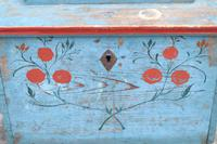 Swedish 'folk art' original blue paint box from hälsingland region, 1847. (14 of 26)