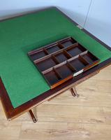 Antique Mahogany Folding Games Coaching Table (2 of 10)
