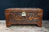 Oriental Carved Camphor Wood Chest c.1910 (6 of 12)