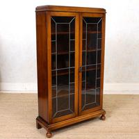 Oak Leaded Glass Bookcase (10 of 15)