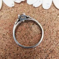 Art Deco Platinum Diamond Solitaire Ring, Antique Diamond Engagement Ring (5 of 8)