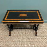 Spectacular Victorian Arts & Crafts Walnut Antique Centre Writing Table (5 of 6)