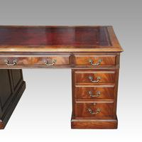 George V Mahogany Pedestal Desk (5 of 13)