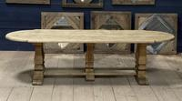 Huge French Bleached Oak Monastery Dining Table (2 of 30)