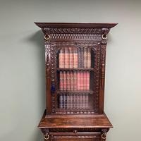 Victorian Carved Oak Antique Bookcase (3 of 9)