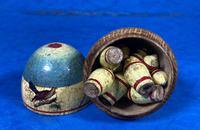 19th Century Skittles Game in Tunbridge Ware White Wood Painted Egg (12 of 21)