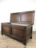 Early 19th Century Antique Oak Coffer Blanket Box (11 of 19)
