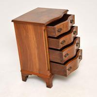 Antique Burr Walnut Serpentine Chest of Drawers (6 of 8)