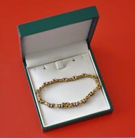 Vintage Exquisite Gold Amethyst Gem Set Link Bracelet - Boxed / Ideal Gift (8 of 11)