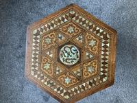 Anglo Moorish Occasional Table possibly retailed by Liberty & co (4 of 4)