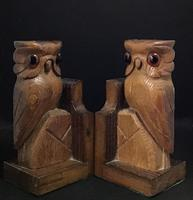 Pair of Vintage Carved Owl Bookends (2 of 5)