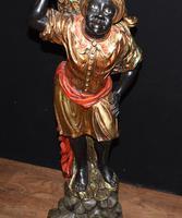Pair of Venetian Blackamoor Figurines - Antique Clam Shell Planter Stands (4 of 11)