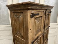 French Gothic Oak Rustic Cupboard or Wardrobe (6 of 22)