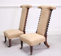 Pair of Victorian Rosewood Prie Dieu Chairs (2 of 3)
