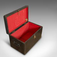 Antique Ebonised Carriage Chest, English, Pine, Tool Trunk, Victorian c 1850 (5 of 12)
