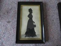 Park of Large Ink Silhouette of Husband and Wife in Ebonised Frames (3 of 7)