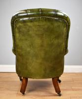 William IV Hand Dyed Leather Armchair (4 of 12)