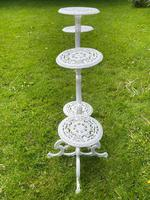 Victorian 19th Century Garden Cast Iron Painted White 6 Branch Plant Stand (22 of 47)