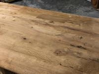 French Bleached Oak Trestle Farmhouse Dining Table (10 of 18)