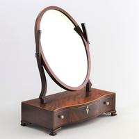 Georgian Serpentine Fronted Oval Mahogany Dressing Table Mirror c.1790 (3 of 10)
