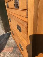 Antique Satin Walnut Three Drawer Chest of Drawers (8 of 8)
